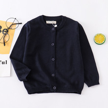 2021 New Autumn Kids Sweaters Baby Boys Girls Sweater Cotton Spring Winter Toddler Girl Cardigan 1-7year 21 Color