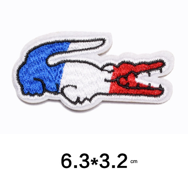 France Flag Embroidery Patches DIY Iron On Badges For Clothes