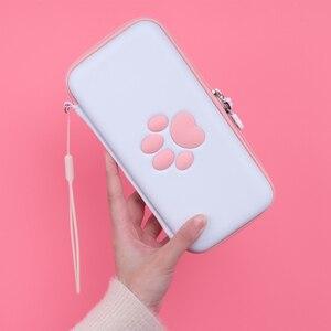 Image 5 - Nette Pfote für Schalter Reise Durchführung Fall für Nintendo Schalter Lite Spiele Hard Shell Portable Storage Tasche