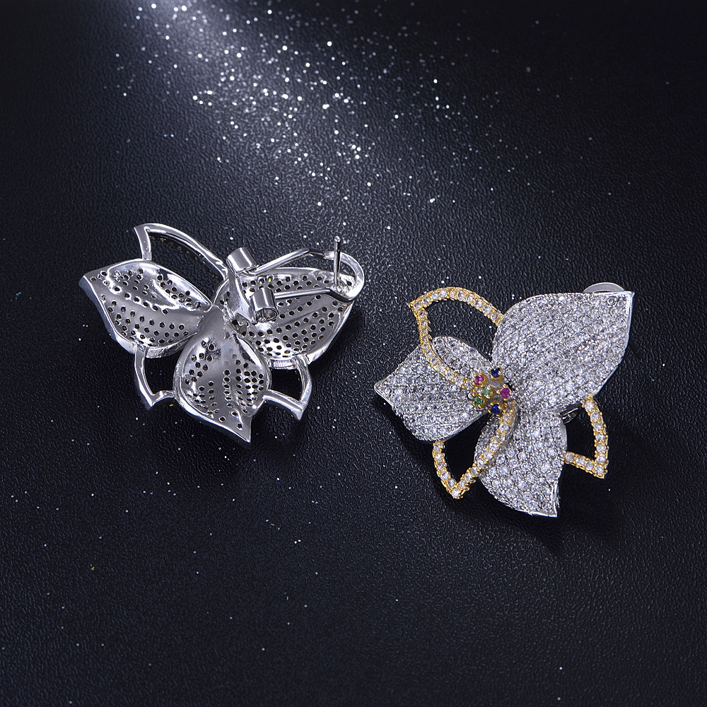 Dazz Luxury Flower Earrings Beautifully Designe CZ Zircon Shiny Jewelry For Wedding Party Ladies Fashion Accessories Gifts 2019 in Drop Earrings from Jewelry Accessories