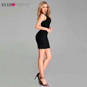 Image 4 - Seksowne czarne sukienki koktajlowe kiedykolwiek dość bez rękawów O Neck Ruched krótka mała sukienka syrenka formalne sukienki na przyjęcie Vestido Coctel