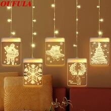 Usb 3d Рождественский светодиодный праздничный светильник Санта