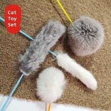Brinquedo interativo do gato da vara do gato do brinquedo do gato do brinquedo do gato fornecedor