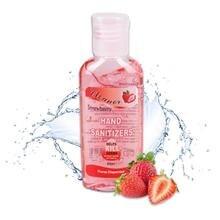 60ml Hand Sanitiser Fruit Flavour Antibacterial Hand Gel Strawberry /Apple/Lemon Portable Hand Sanitizer Waterless Cleaner