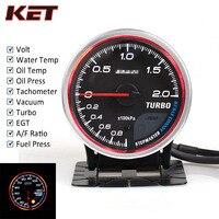 Medidor automático Defi CR, medidor de presión de agua, temperatura de aceite, presión de aceite al vacío, presión EXT Temp AFR, tacómetro, Motor paso a paso