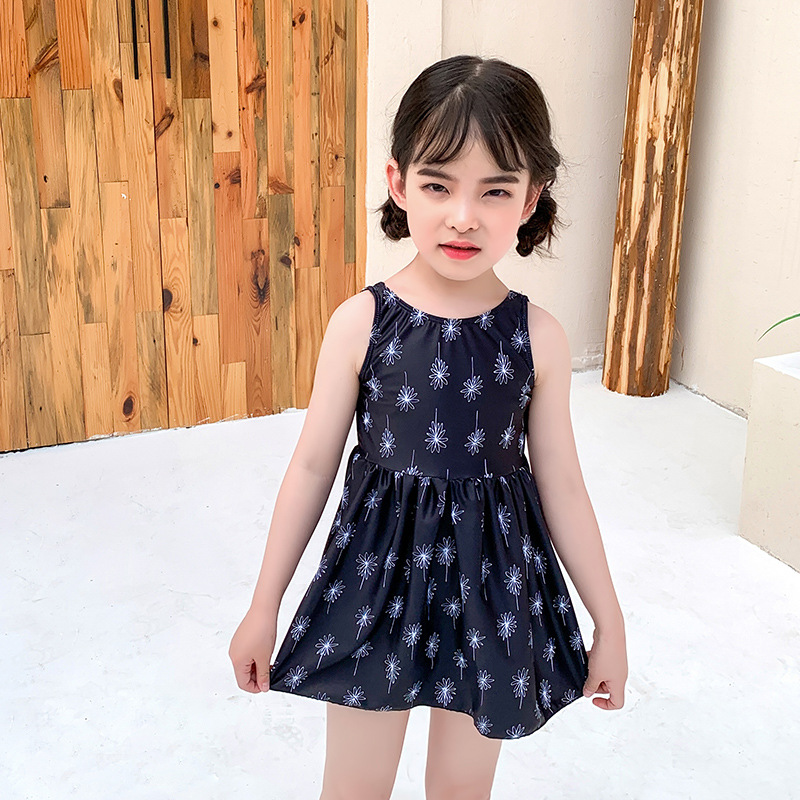 2019 New Style Hot Selling GIRL'S Swimsuit INS Korean-style Fashion Child One-piece Cute Little Princess Dress Swimming KID'S Sw