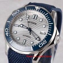 Bliger 41mm Automatic Mechanical Men Watch Luxury Brand Rubb