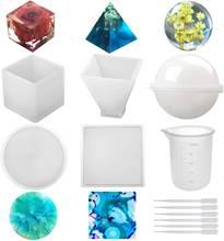 Форма для литья из силиконовой смолы кубик Сфера квадратные