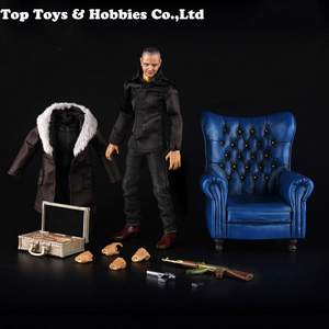 Image 5 - 1/12 Scale Carlo Eduardo Action Figure Model with Yellow/Blue/Red Sofa Collections Models