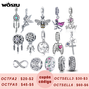 Hot Sale Genuine 100% 925 Sterling Silver Pendant Lucky Charm Family Bee Zircon Beads Fit Original Bracelet Necklace DIY Jewelry
