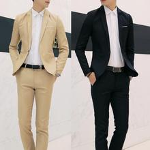 Set Suit Men Long Sleeve Button Lapel Suit Suit Business Casual Pocket Men Suit Two-piece Set Suitable for office wedding gifts