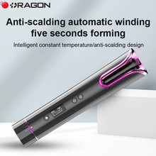 Automatic Hair Crimper Wireless Hair Curler USB Rechargeable Cordless Portable Hair Iron LCD Display Fast Heating Ceramic Curly
