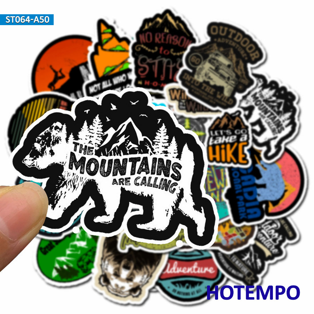 50pcs Outdoor Wild Camping Stickers Outdoor Adventure Climbing Travel Landscape Waterproof Sticker For Mobile Phone Laptop Decal