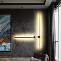 Nordic Minimalist Individual Long Wall Lamp Post modern Background Bedroom Aisle Study Living Room LED Indoor Lighting Fixtures