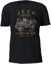 2019 New Cool Tee Shirt JEEP American Legend Army Vehicle Black T-Shirt S-3XL