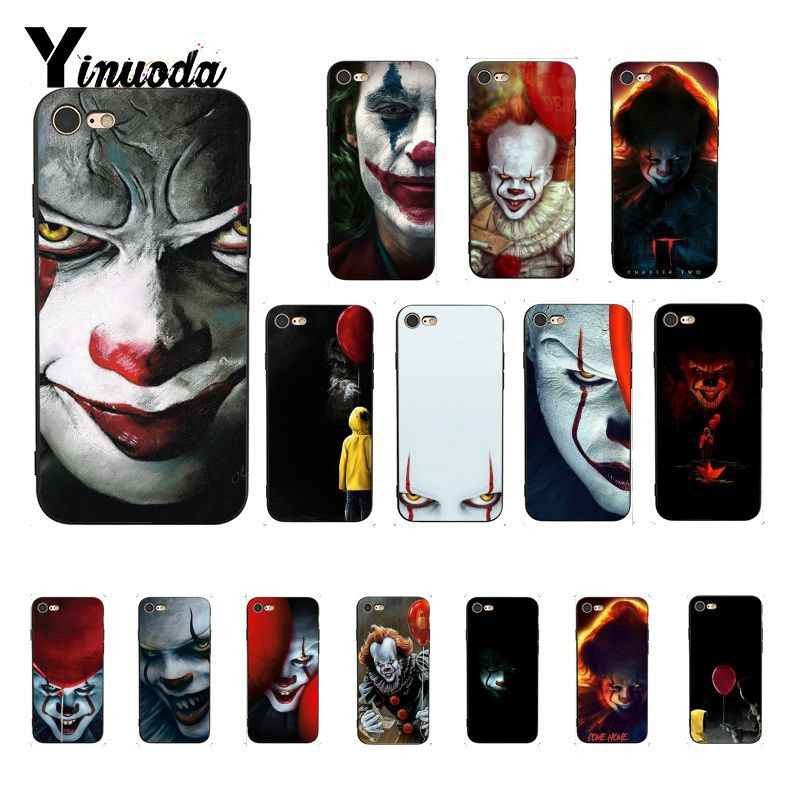 De Film Het Pennywise Zwart Tpu Soft Silicone Phone Case Cover Voor Iphone 8 7 6 6 Splus X Xs max 5 5S Se Xr Fundas Capa 11pro Max