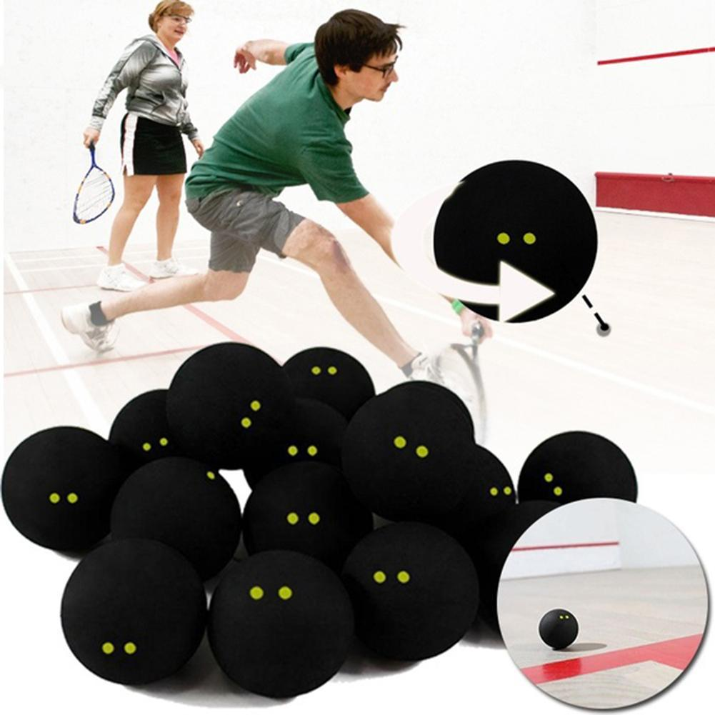 Professional Squash Ball Two Yellow Dots Low Speed Rubber Ball Tube Packing Training Squash Ball Competition Sports Accessories