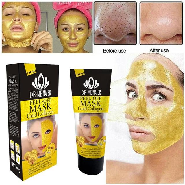 24k Gold Collagen Peel Mask Milk Rose Olive Depth Replenishment Anti Aging Remove Wrinkle Blackhead Acne Korean Face Mask 3