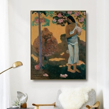 Canvas Art Oil Painting《The Month Of Mary》Paul Gauguin Art Poster Picture Wall Decor Modern Home Decoration For Living room