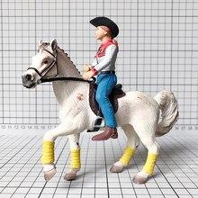 Pcv rysunek 1:18 lalki kowbojski rycerz luzem model zabawkowy kobiet trener