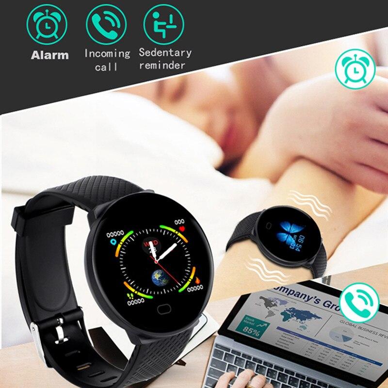 DOOLNNG 2020 D19 Smart Watch women Heart Rate Blood Pressure Health SmartWatch Men Bluetooth Watch Wristband Fitness Tracker 3