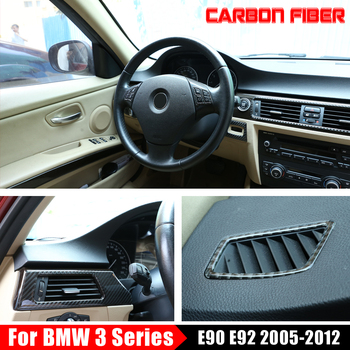 Hot Sale Carbon fiber Passenger Cup Holder Trim patch modified Turn Signal Frame interior For BMW 3 series E90 E92 E93 2005-2012 image