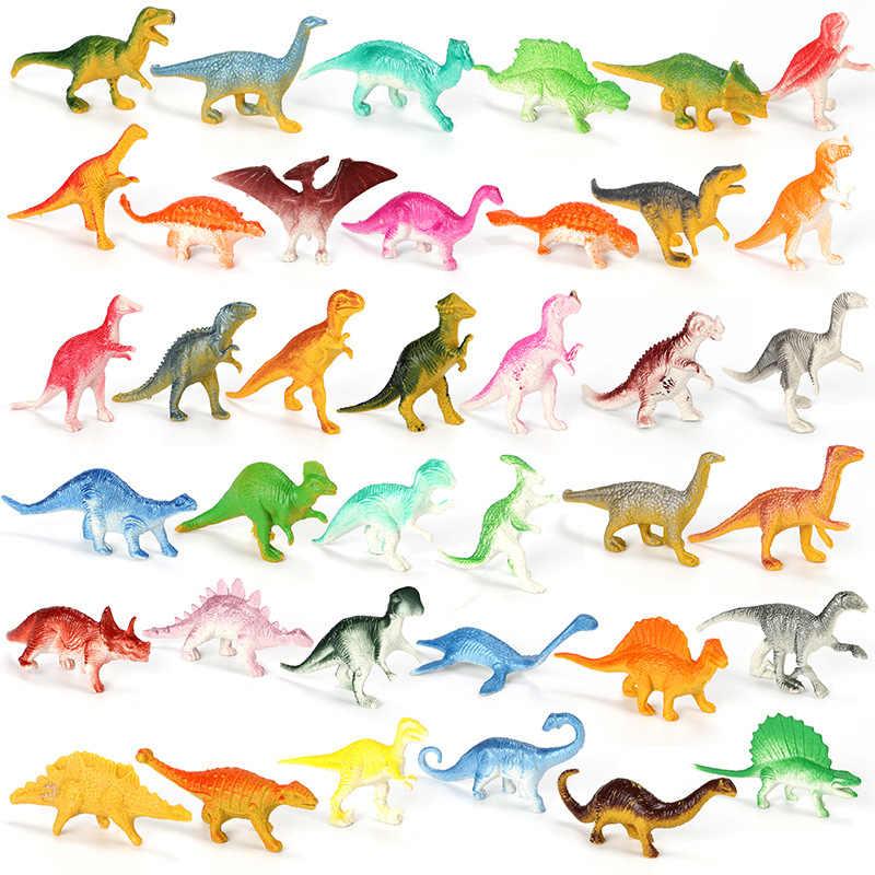 10 pièces/lot lot Mini dinosaure modèle enfants jouets éducatifs mignon Simulation Animal petites Figures pour garçon cadeau pour enfants jouets