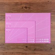 Esteira de corte a3 a4 a5 pvc retalhos almofada de corte a3 retalhos ferramentas manual diy ferramenta placa de corte dupla face auto-cura cor rosa
