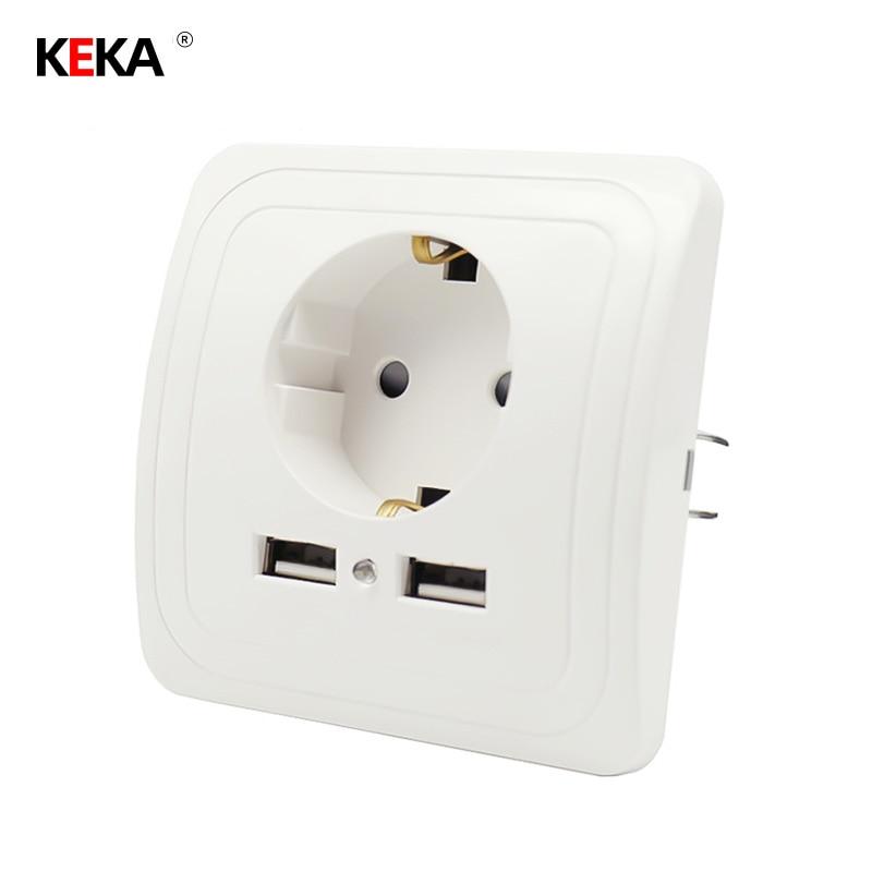 Всем советую ЕС розетка Dual USB Порты и разъёмы розетки Зарядное устройство адаптер зарядки 2A стены Зарядное устройство адаптер Мощность выхо...