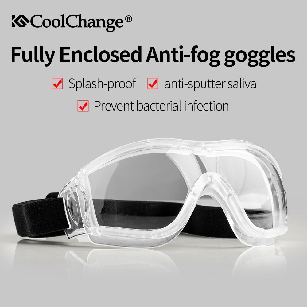 CoolChange Cycling Glasses Men Women Outdoor Sports MTB Bike Bicycle Transparent Goggles Eyewear Anti-Dust Anti-Splash
