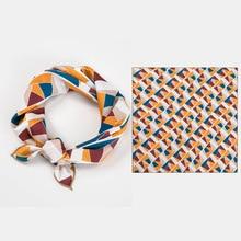 New Korean dot printed Bright color small square Imitation silk scarf for girls Joker scarves hair kids neckerchief