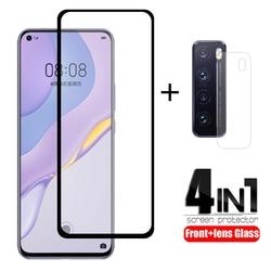 На Алиэкспресс купить стекло для смартфона 4-in-1 for huawei y6p y8p y5p glass for nova 5t tempered glass for honor v30 pro huawei nova 5t p40 lite y6p y8p y5p lens glass
