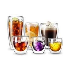 Кофейная кружка Bodum с двойными стенками, стеклянная конструкция, анти-обжигание, теплоизоляция, чашка для завтрака, молока, чая, питьевой стакан, посуда для напитков