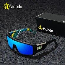 Viahda New Men Sunglasses Windproof Big Frame 2020 Mirror Sun Glasses oculos Driving Male Goggles