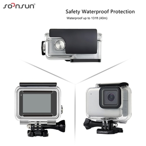 Image 3 - SOONSUN 40m Waterproof Underwater Protective Housing Case with 3 Pack Diving Lens Filter for GoPro Hero 7 Silver/White Go Pro 7