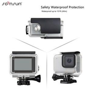 Image 3 - Soonsun 40m à prova dunderwater água caso de proteção subaquática com 3 pacote filtro de lente de mergulho para gopro hero 7 prata/branco go pro 7