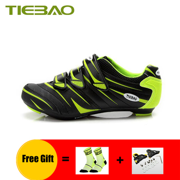 TIEBAO cycling shoes road men women self-locking breathable road bike shoes cleats outdoor sport bicycle riding bike sneakers