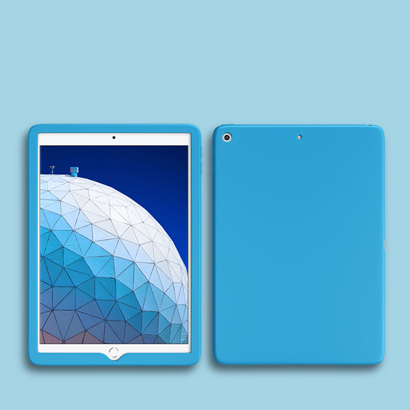 Light Blue Blue Shockproof Case For Apple iPad 10 2 inch 2019 2020 Soft Silicone Rubber Protective Tablet Case