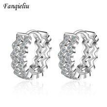 Fanqieliu двойной Слои с необычными волнистыми кристаллами серьги