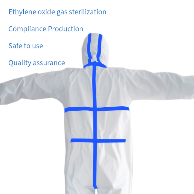 PPE Suit Anti-Virus  Coverall Hazmat Suit Protective Disposable Clothing Disposable Factory Hospital Safety Clothing 3