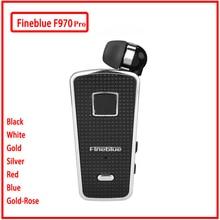 Fineblue f970 pro mini portátil in ear 10 horas bluetooth 5.0 pescoço clipe tipo telescópico negócios esporte fone de ouvido vibração