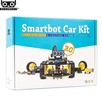 Project Smart Robot Car Kit for arduino uno with Ultrasonic Sensor, Bluetooth module,ect Educational Toy Car With CD smart car tracking robot 4 line sensor module infrared tracing black line identification agtech