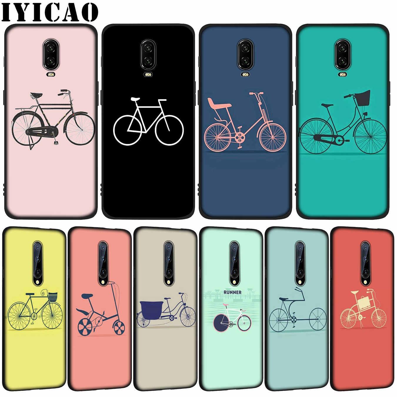 Funda de teléfono de silicona negra TPU suave para bicicleta con figura de palo para OnePlus 7T 7 Pro 6 6T 5 5T One Plus 7Pro