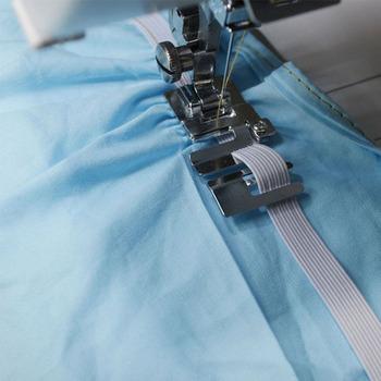 Domowa maszyna do szycia stopka #29306-2 wysokiej jakości przewód elastyczny pasek tkanina stretch stopka dociskowa tanie i dobre opinie Other Sewing Machine Parts Stainless Steel sewing accessories costura