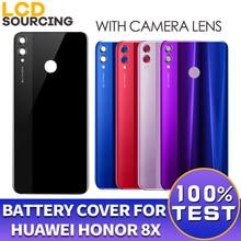 バッテリーカバーhuawei社の名誉8X背面ガラスバッテリーハウジングカバー交換用カメラレンズと名誉8x裏表紙ケース
