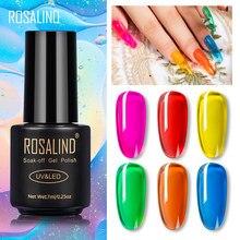 ROSALIND – Vernis à ongles en gelée transparente, effet verre, produit de manucure, hybride, soak off Gellak, design Nail Art, 7 ml,
