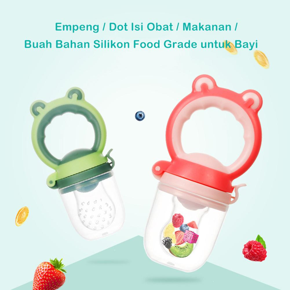 Frog Shape Baby Fresh Food Fruit Feeder Silicone Nipple Pacifier Teething Toy New
