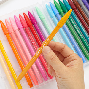 Image 3 - 36色細線0.4ミリメートルオフィスの看板ペンフェルトチップ用水オフィスサインペン学生絵画大人ぬりえブック