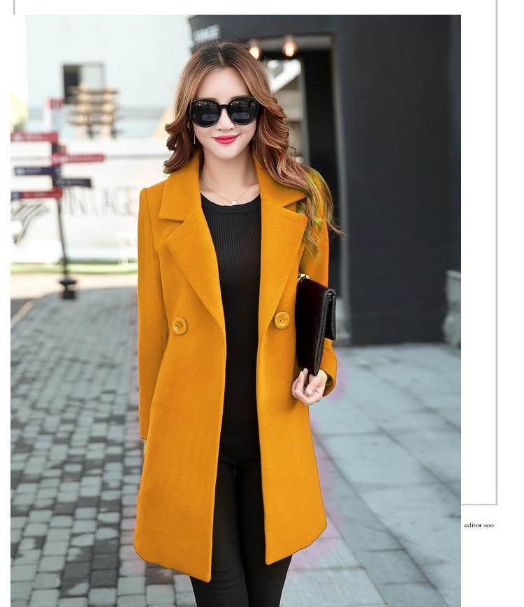 YICIYA Winter autumn Coat Women Wool Jacket Long Oversized Coats Plus Size Large Black Blend Woolen Warm Outerwear 2019 Clothing 2