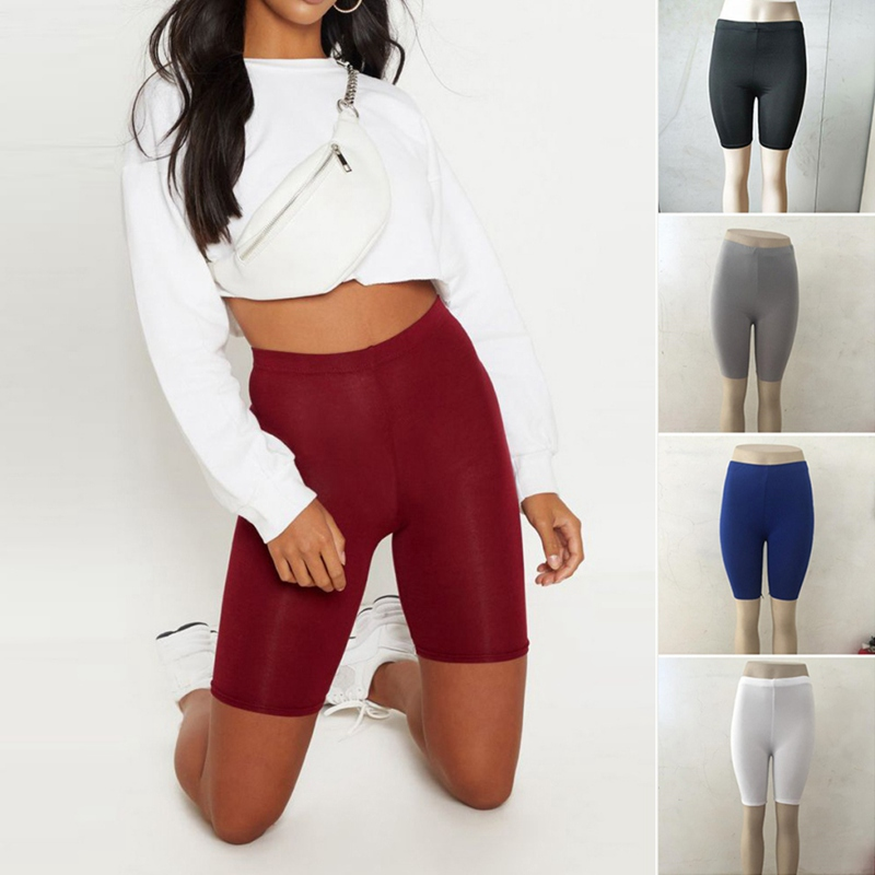 Summer Women's Sports Fitness Solid Color Pants High Elastic Tight Stretch Pants Rk